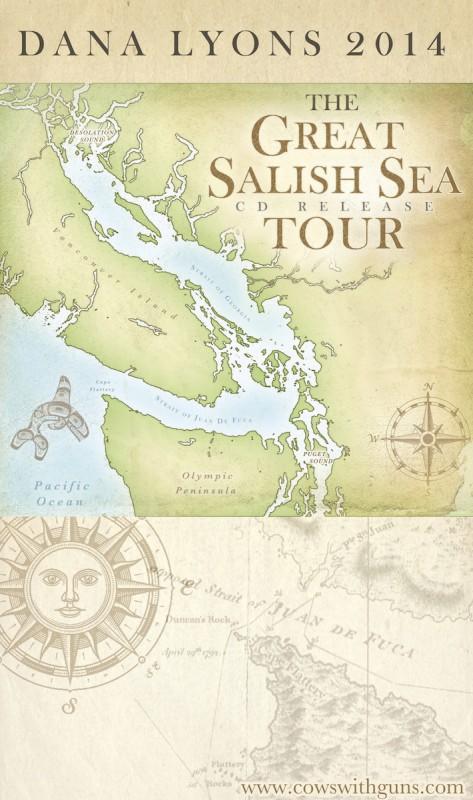 Dana Lyons Great Salish Sea Poster 8x14