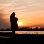 Jane Goodall watching cranes along the Platte River in Nebraska
