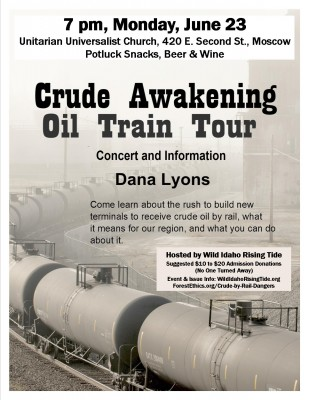 Moscow Crude Awakening Oil Train Tour Show Flyer