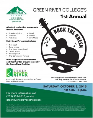Rock The Green 2015 poster