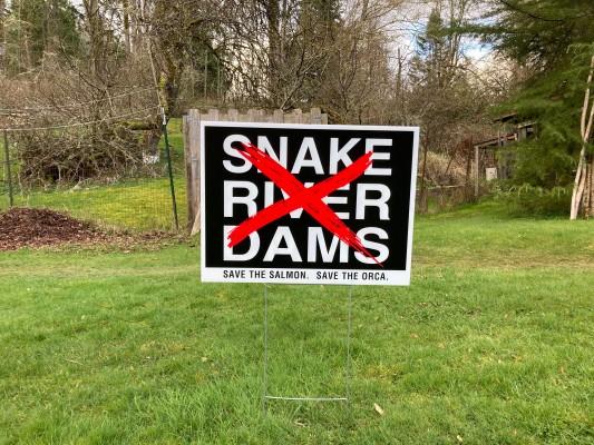 Snake River Dam Yard Sign photo