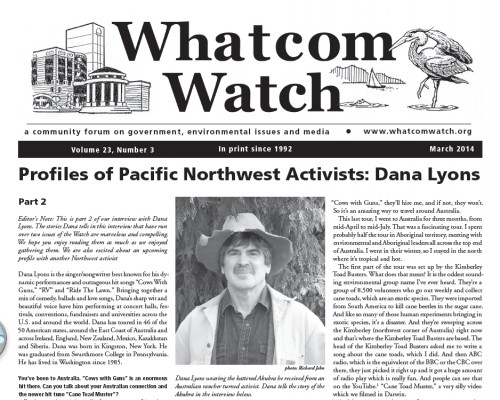 Whatcom Watch March cover