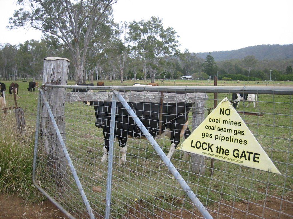 Dairy farmers lock the gate