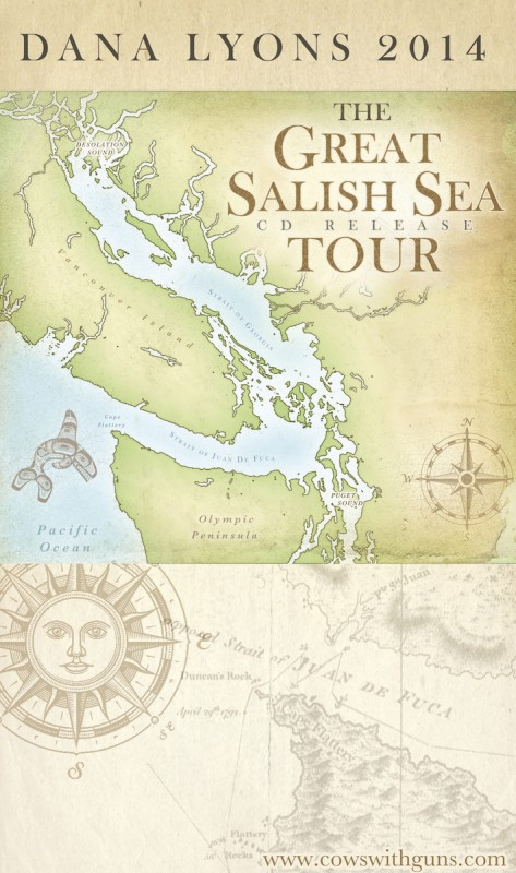 Dana Lyons Great Salish Sea Poster 8x14