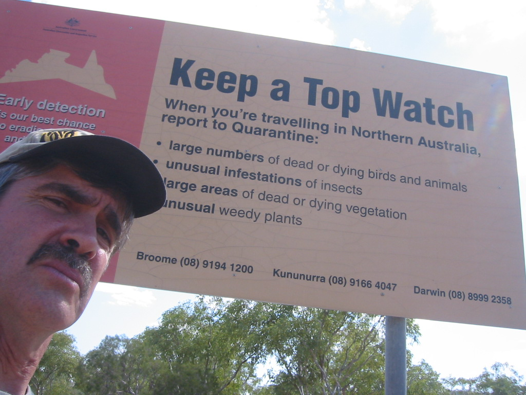Keep a top watch sign