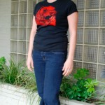 Stacee Squirrel fitted s-shirt